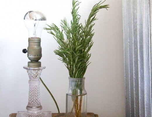 rosemary sprigs on nightstand | reading my tea leaves