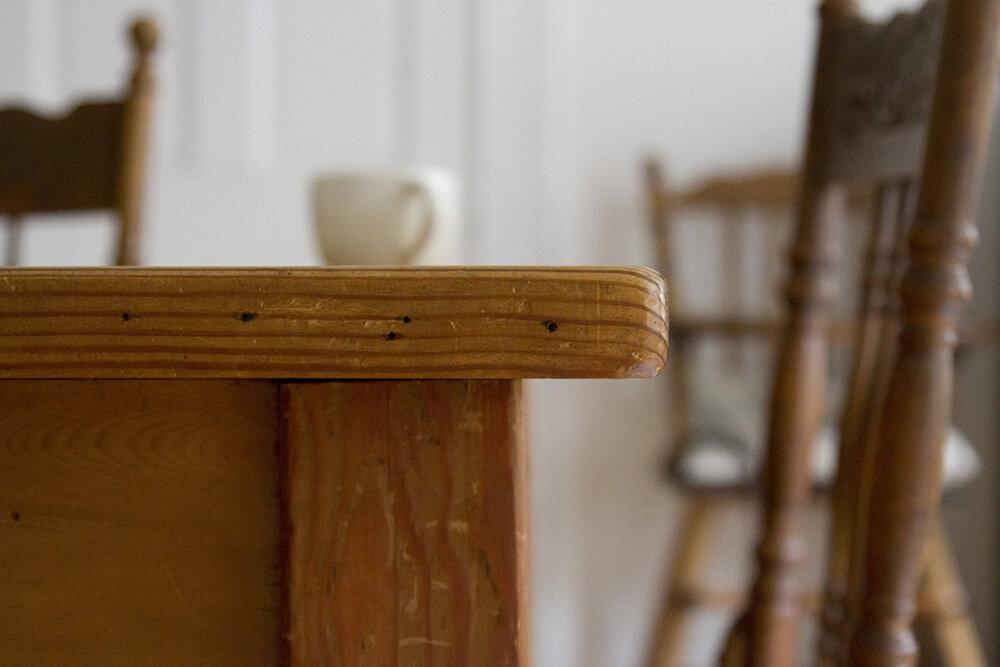 table | reading my tea leaves
