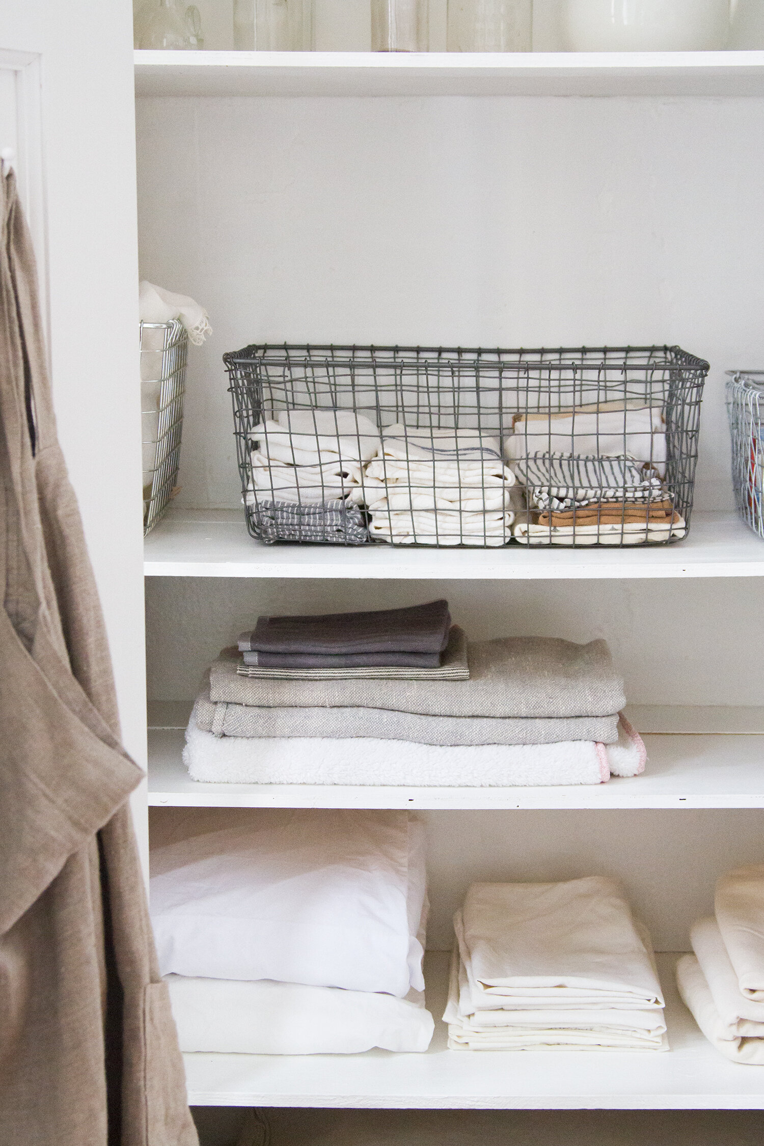 organizing linens in a tiny space | reading my tea leaves