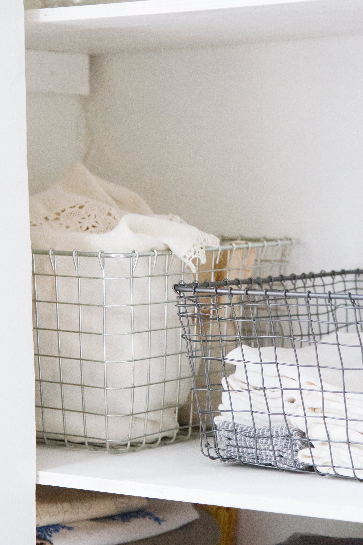 organizing linens in a small space | reading my tea leaves