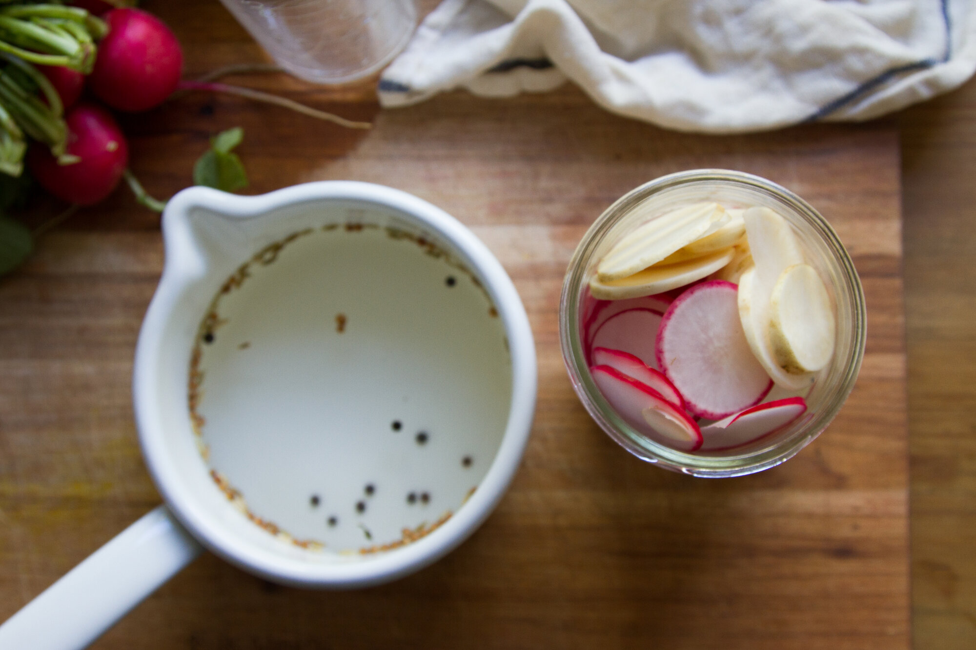 make your own pickled radishes   reading my tea leaves