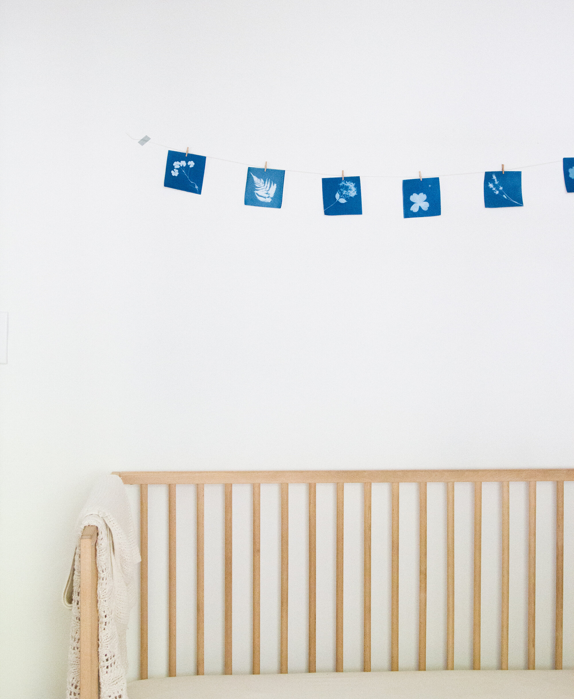 nursery sunprints | reading my tea leaves