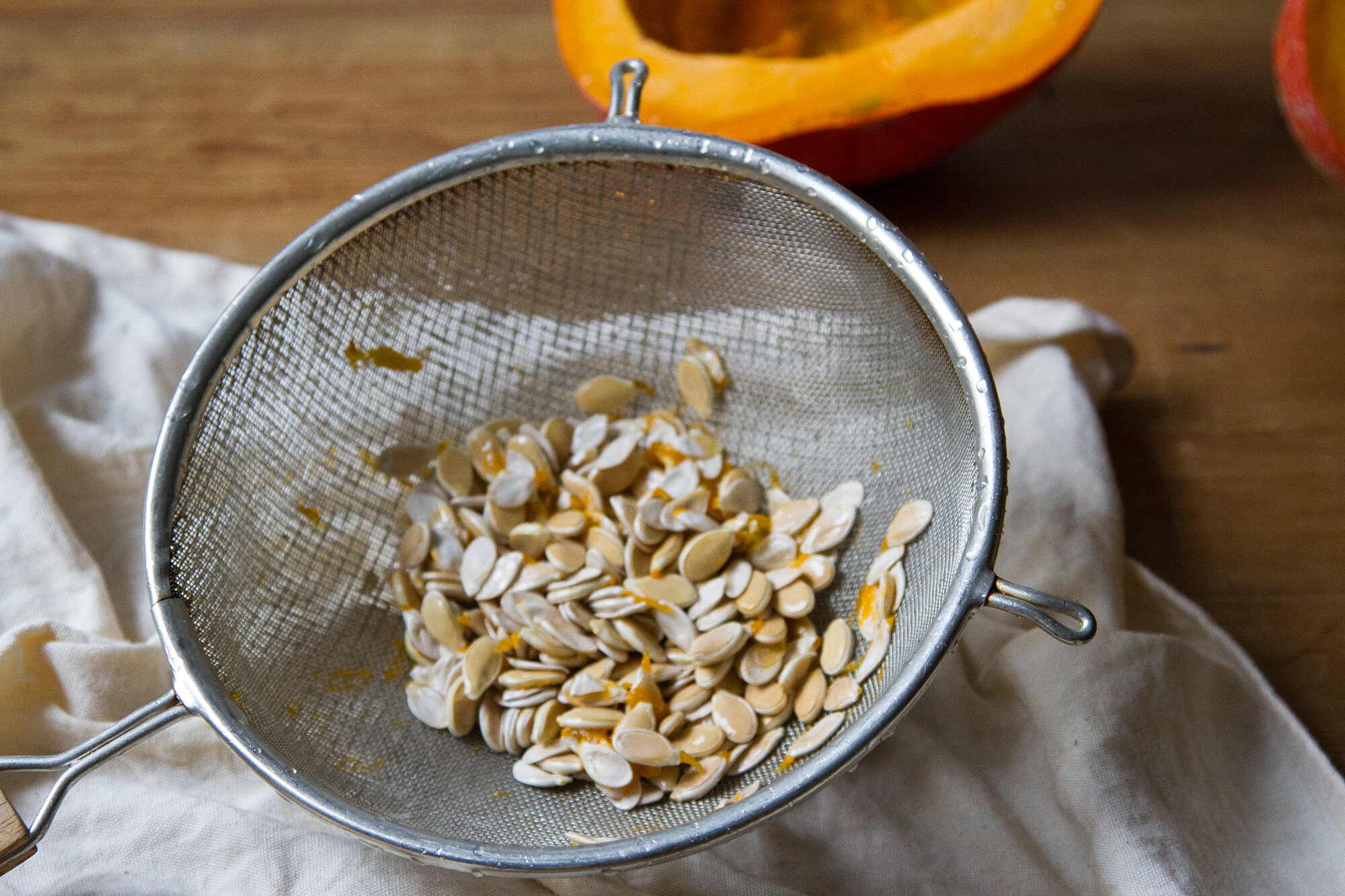 roasted squash seeds | reading my tea leaves