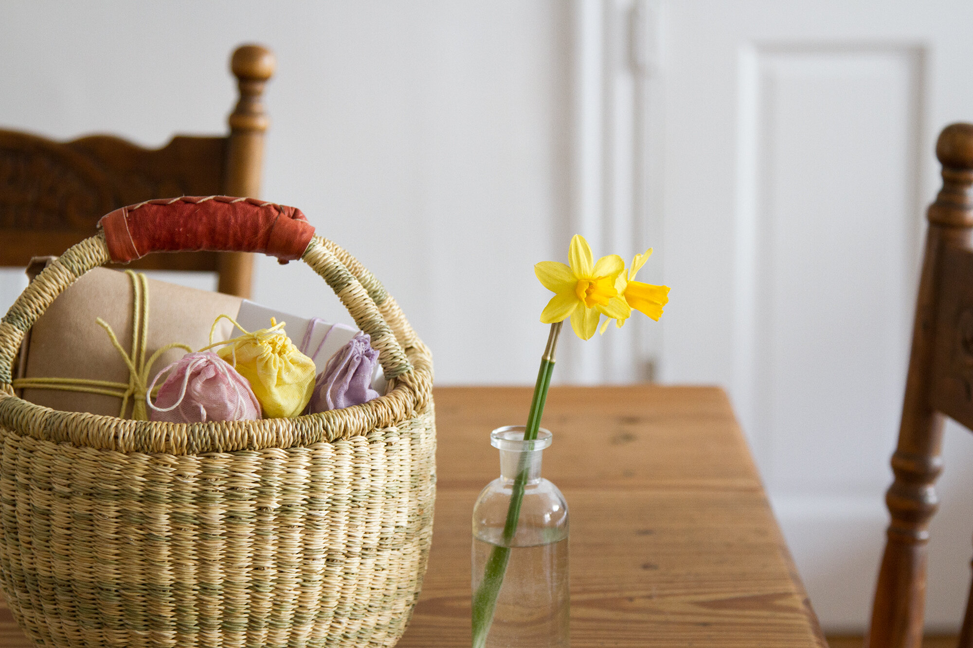 pastel-colored butchers twine with natural dye | reading my tea leaves