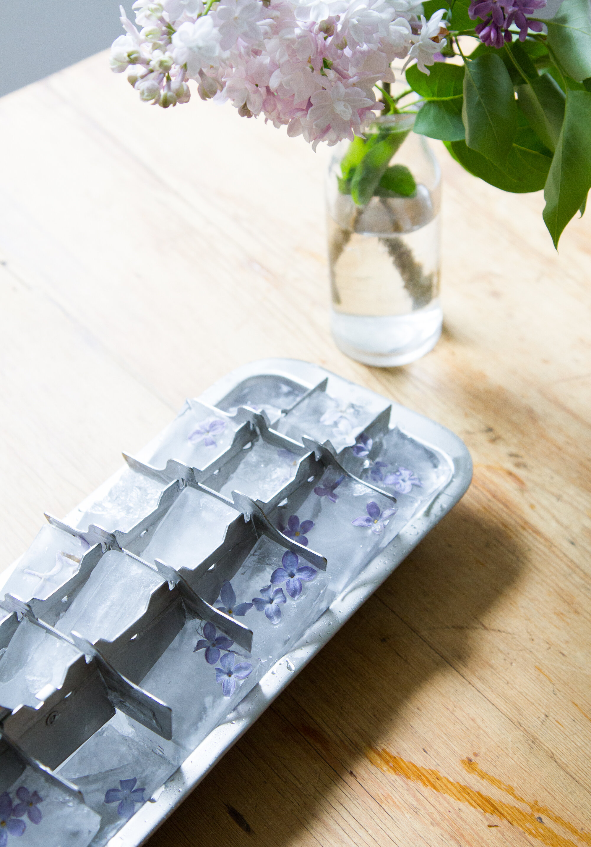 lilac ice cubes gone wrong | reading my tea leaves