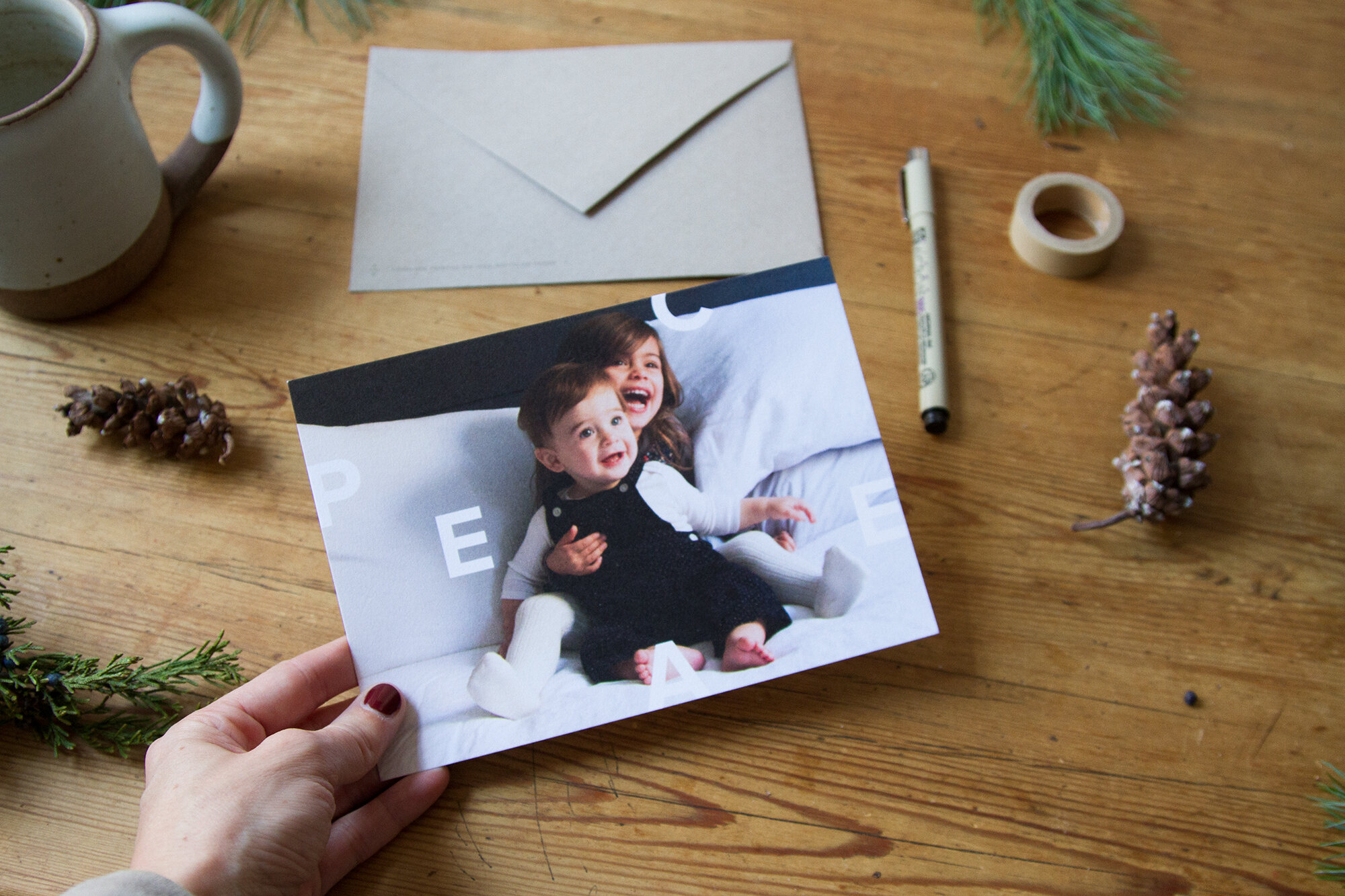 choosing a holiday card with artifact uprising | reading my tea leaves