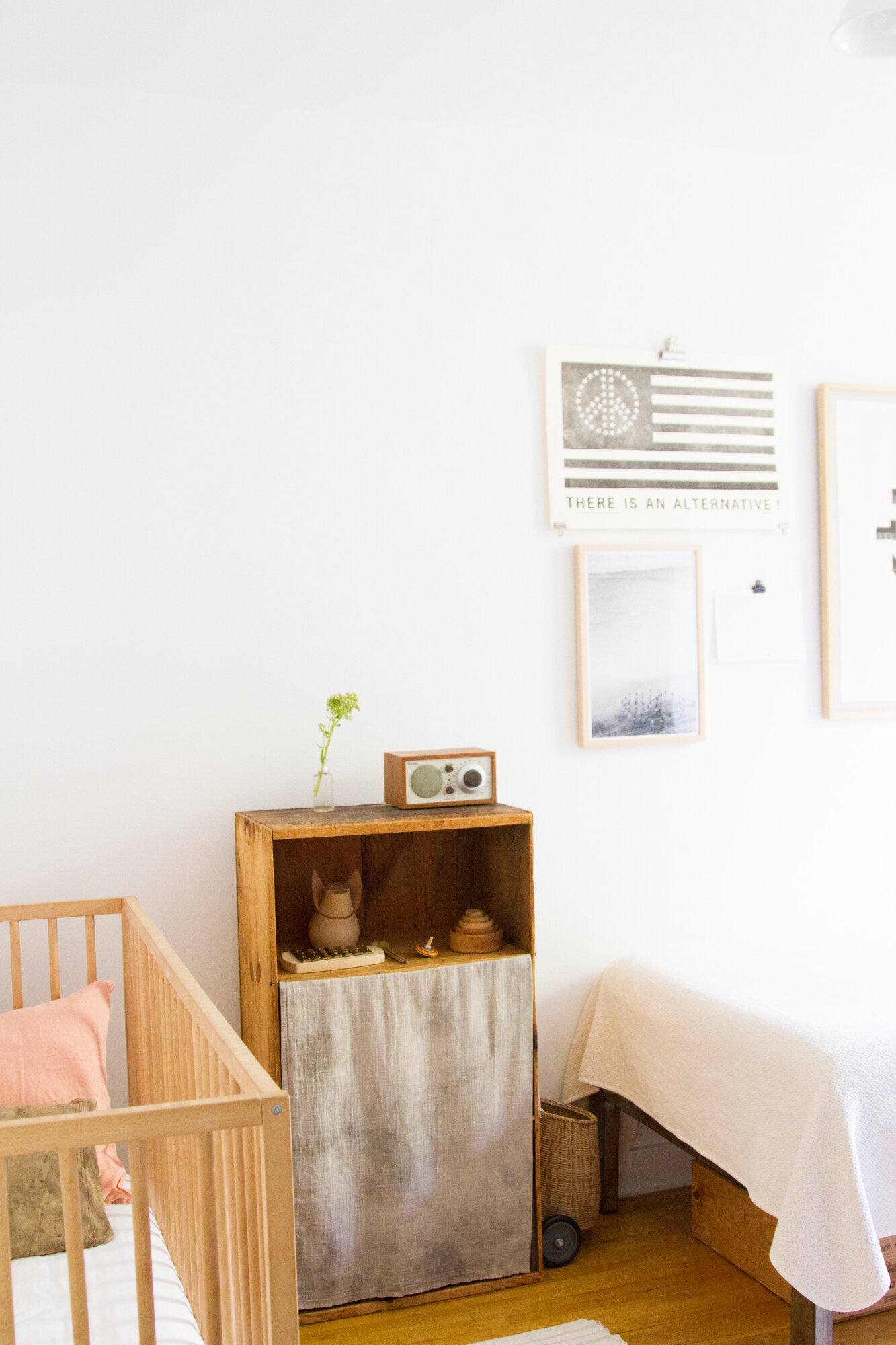 in a small space, cover a bookshelf with a curtain | reading my tea leaves