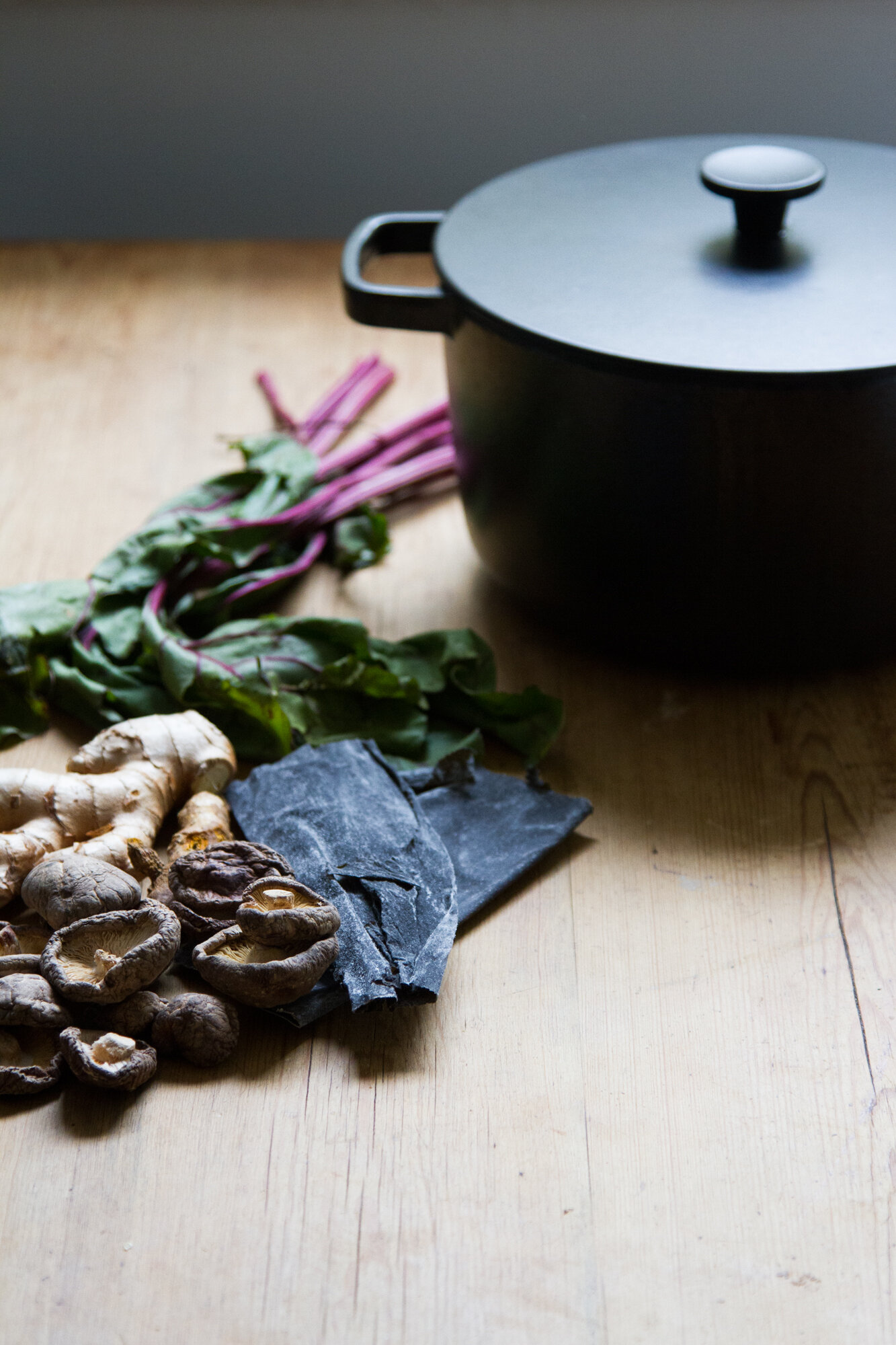 veggie dashi with ginger and turmeric | reading my tea leaves