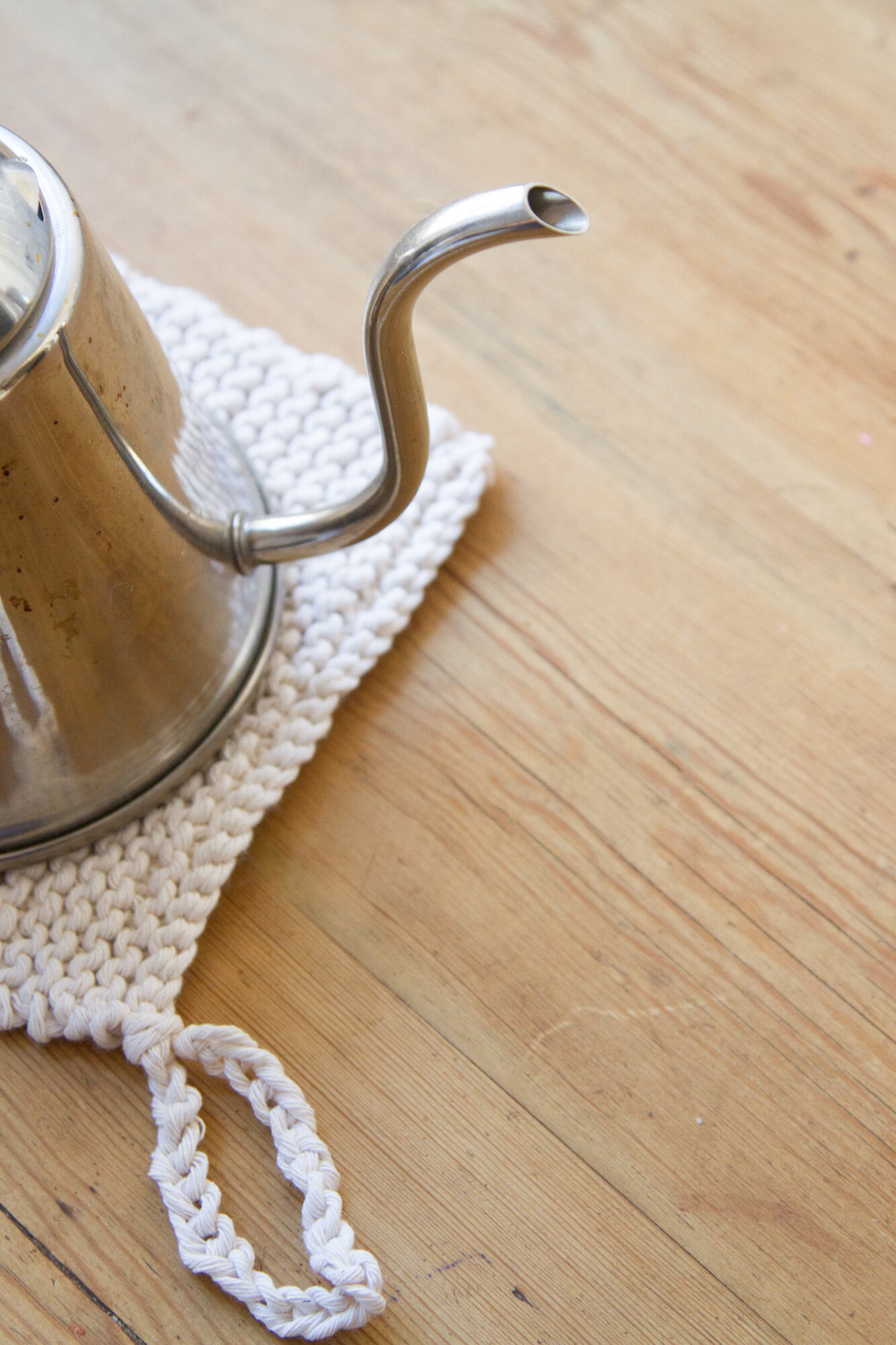 butcher's twine potholder | reading my tea leaves
