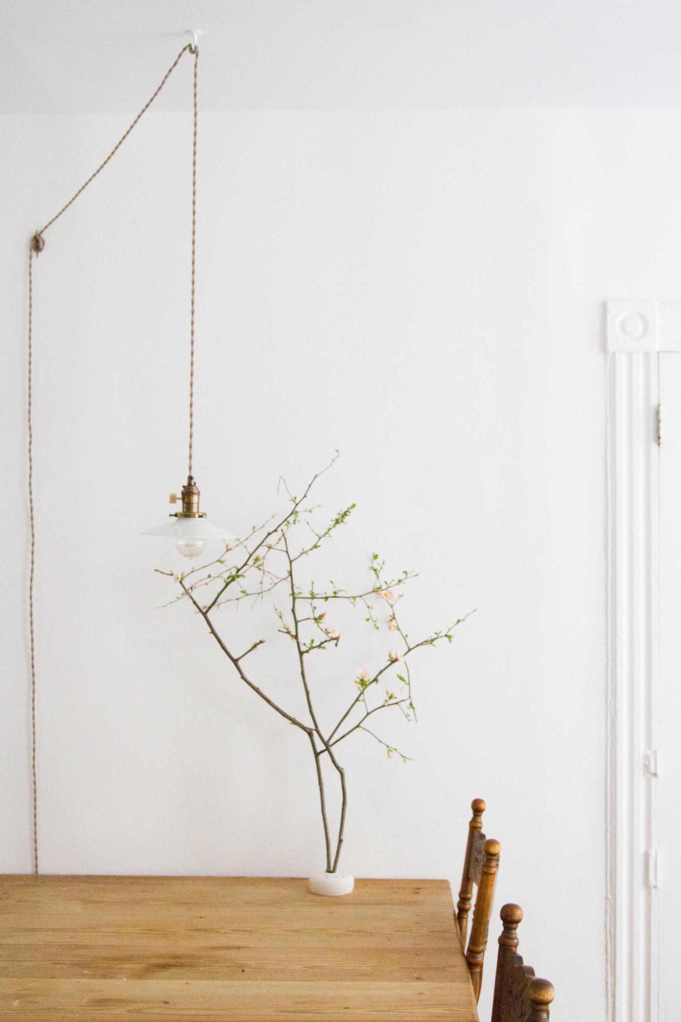 antique milk glass pendant lamp | reading my tea leaves