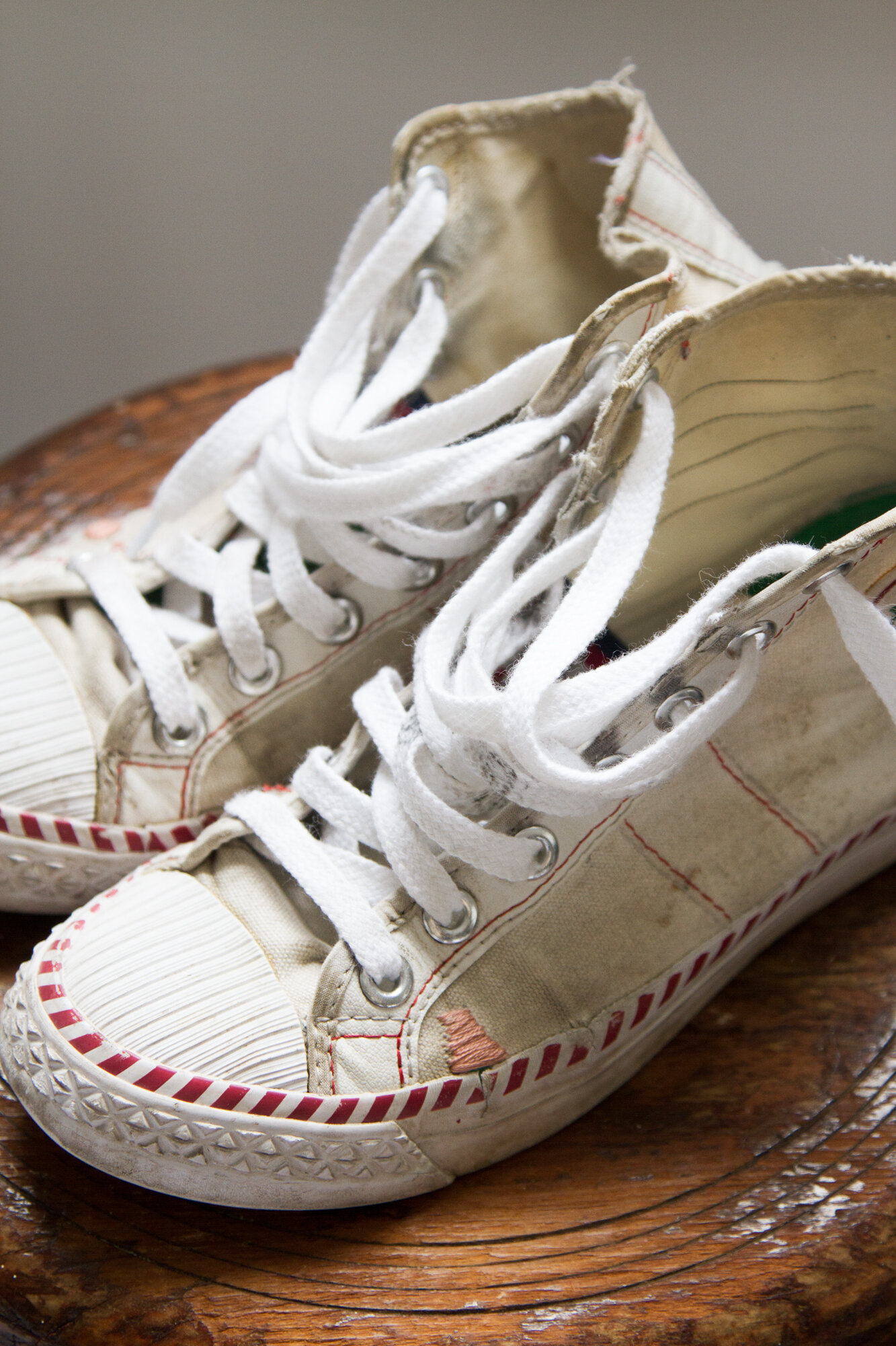 repaired canvas sneakers | reading my tea leaves