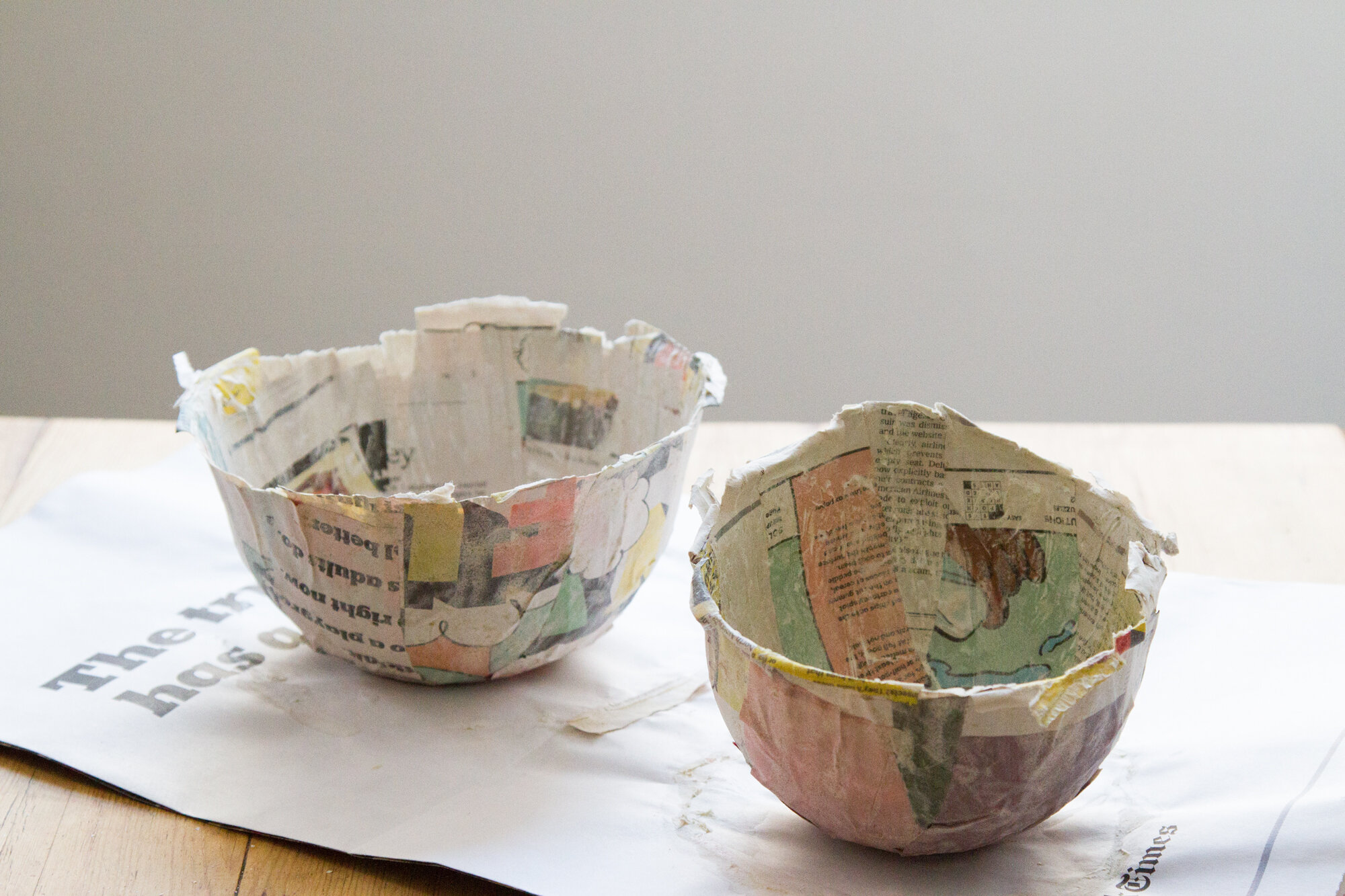 papier-mache easter baskets | reading my tea leaves