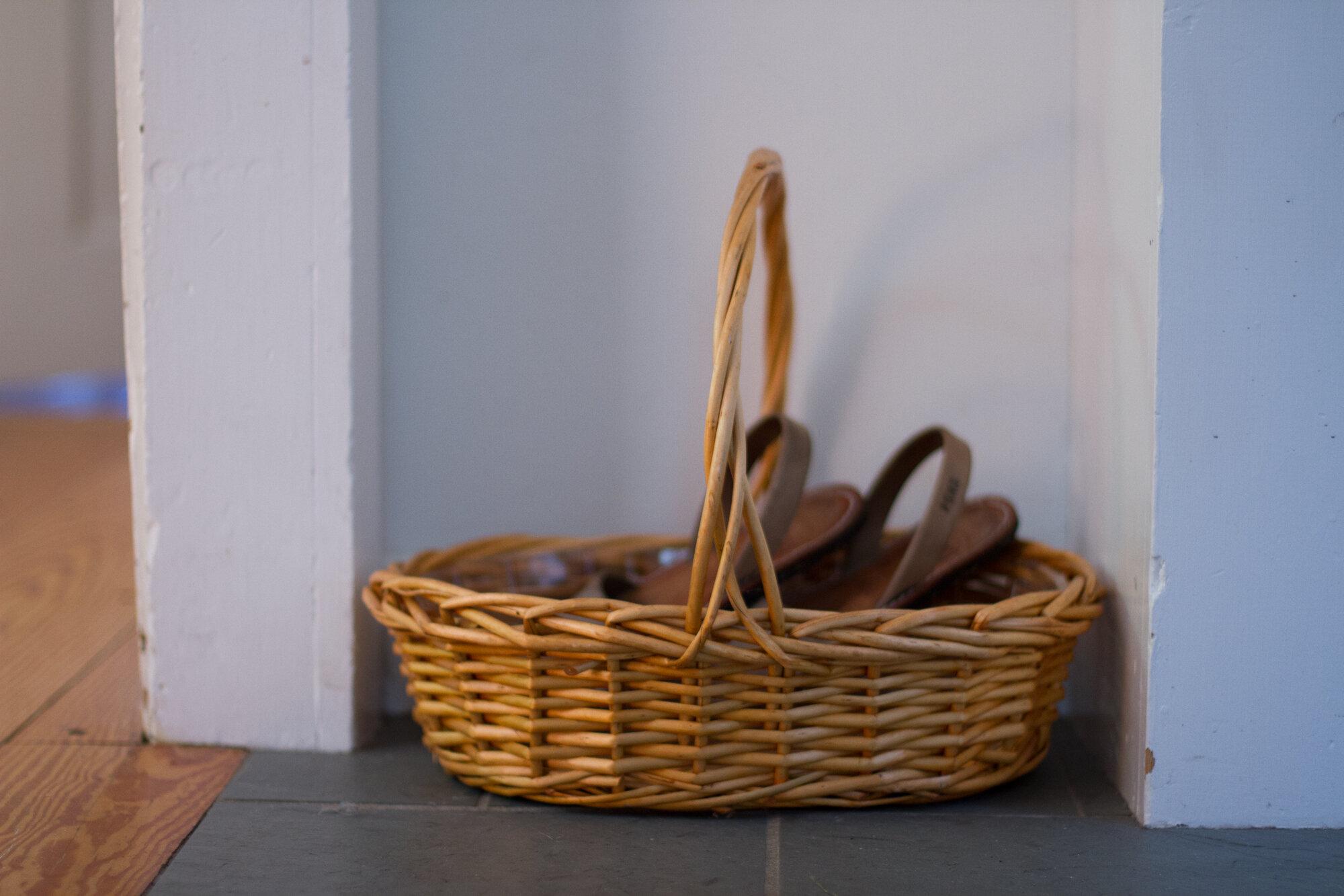shoe basket   reading my tea leaves