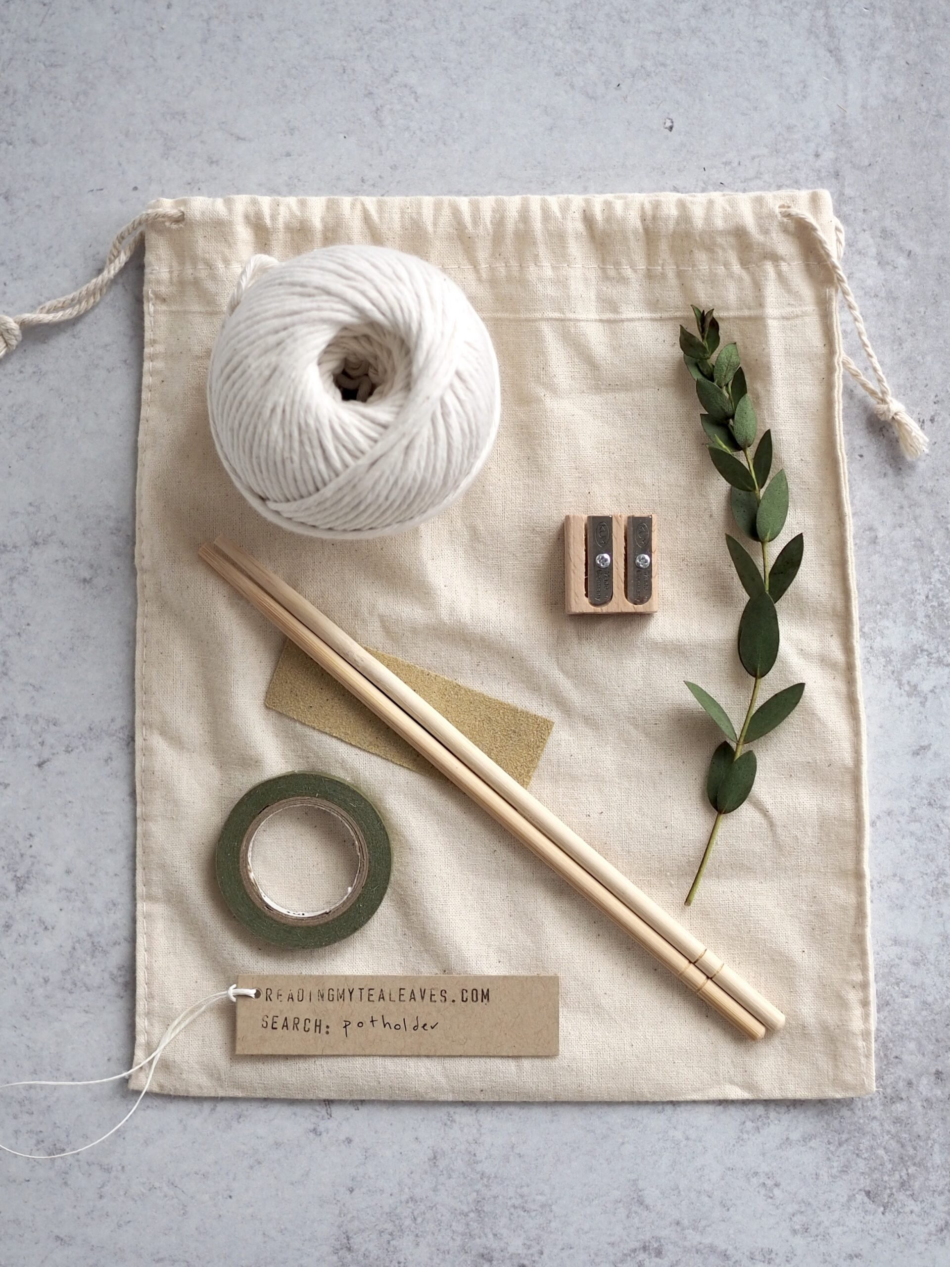 a butcher's twine potholder kit | reading my tea leaves
