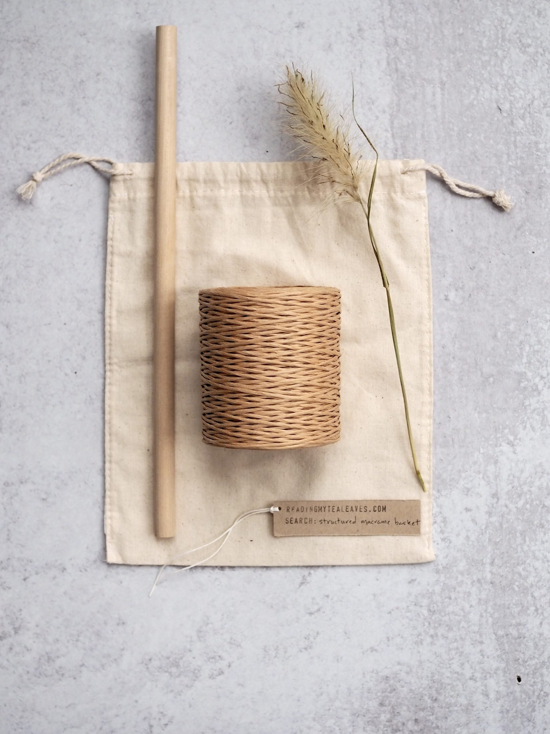 floral wire macrame basket | reading my tea leaves