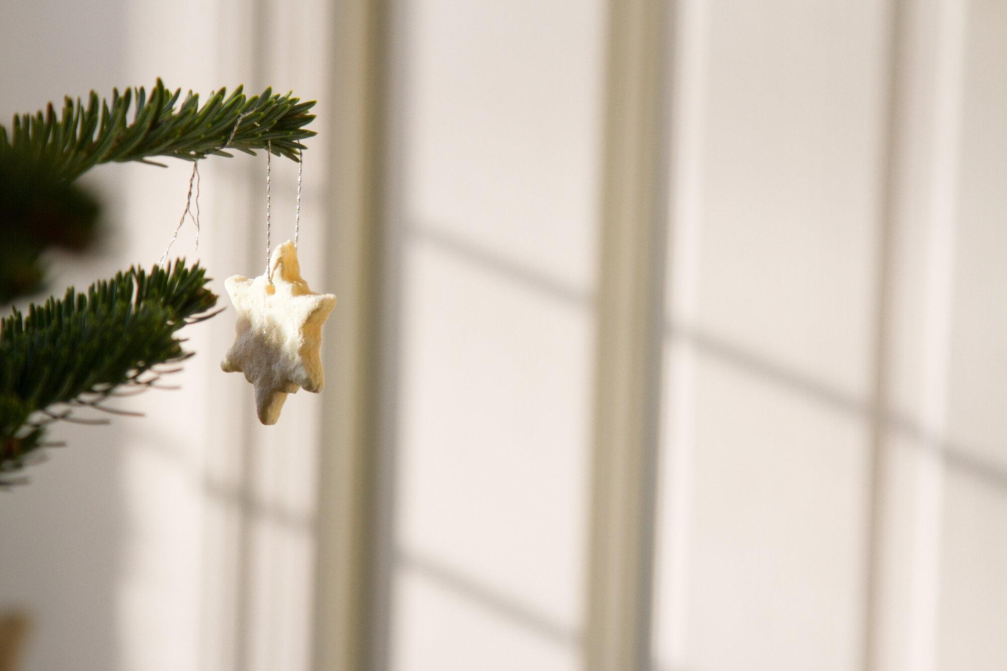 salt dough ornament | reading my tea leaves