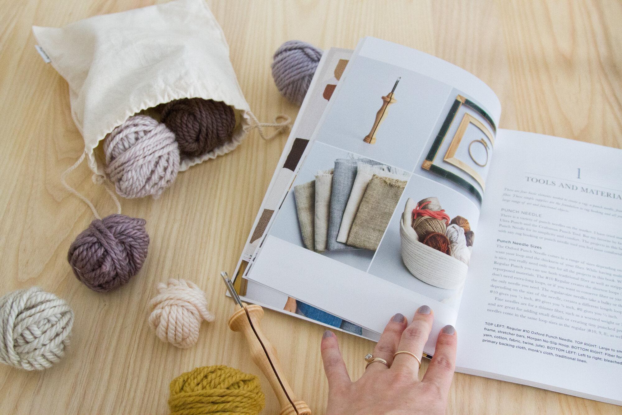 modern rug hooking by rose pearlman | reading my tea leaves