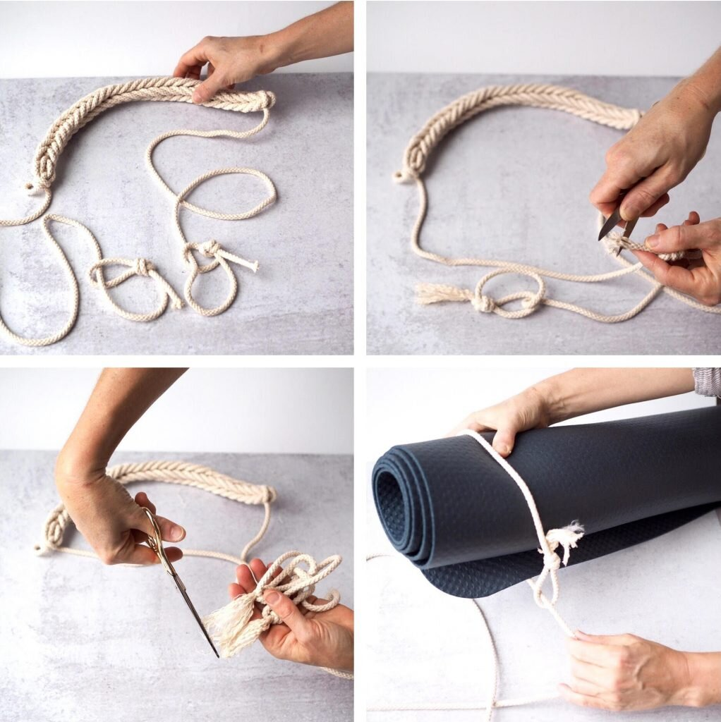 Make Your Own Corded Yoga Mat Strap Reading My Tea Leaves Slow Simple Sustainable Living