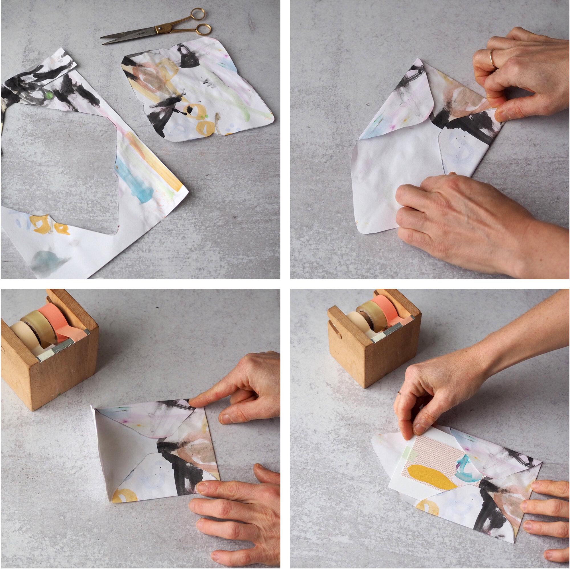 kid art envelopes | reading my tea leaves