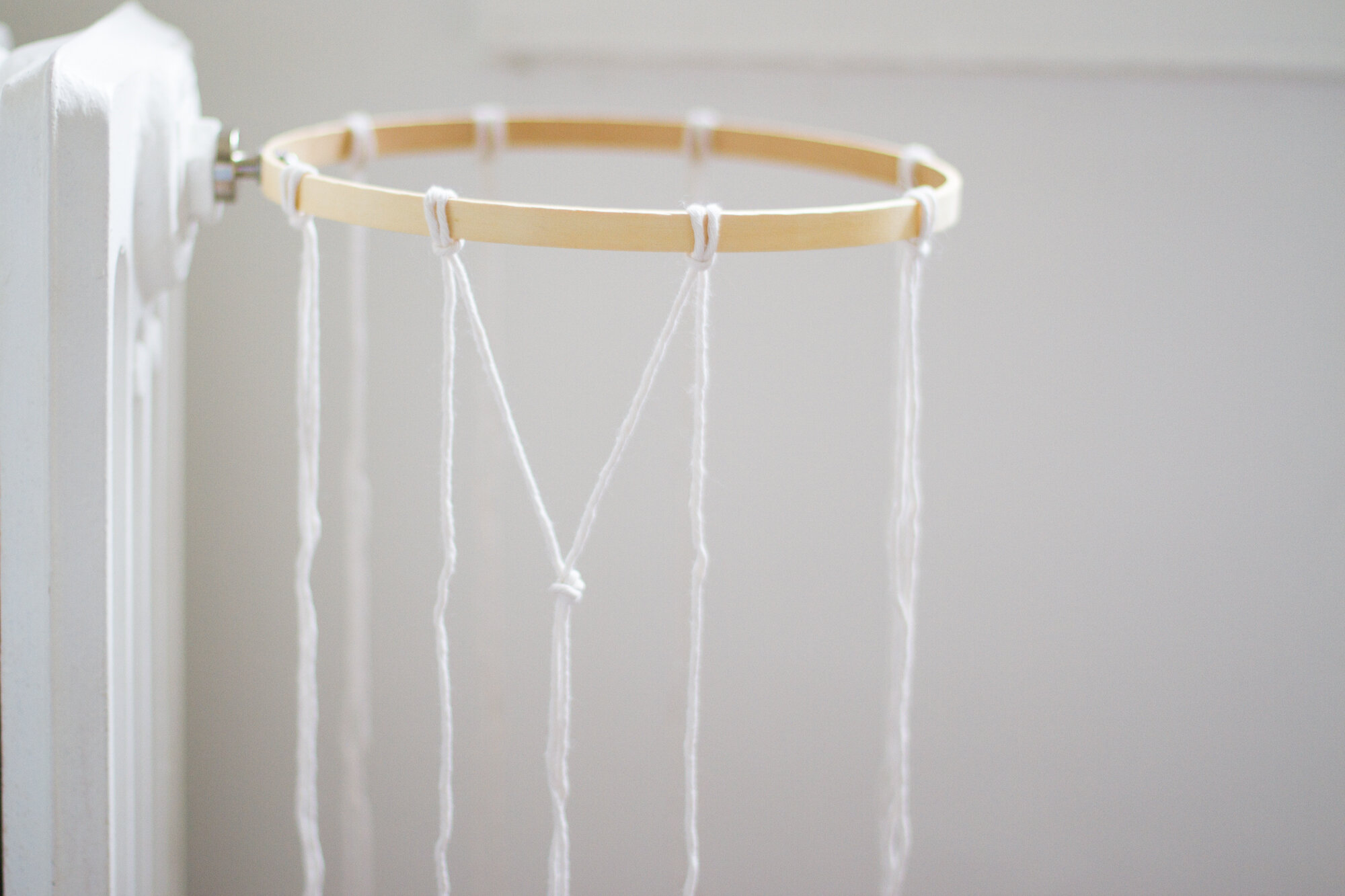 how to turn an embroidery hoop into a basketball hoop | reading my tea leaves