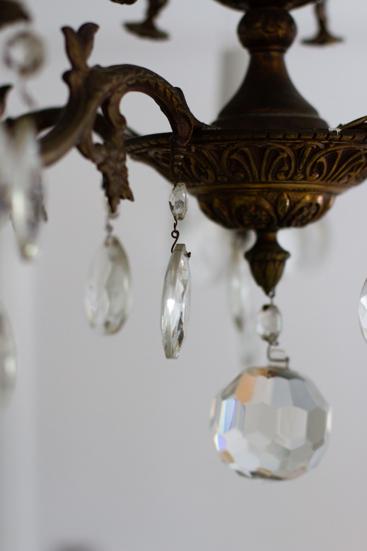 cleaning chandelier | reading my tea leaves